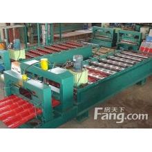 压瓦机厂家鑫强专业生产彩钢设备1050琉璃瓦设备质量好